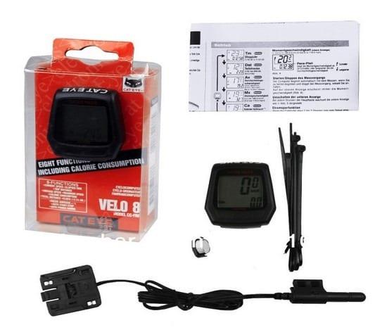Đồng hồ xe đạp Cateye Velo 8 CC-FR8 (có dây)