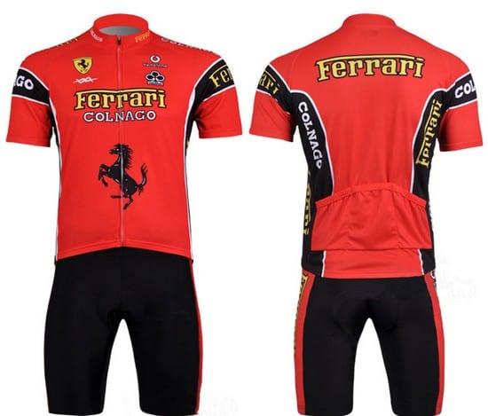bộ quần áo đi xe đạp ngắn tay Ferrari