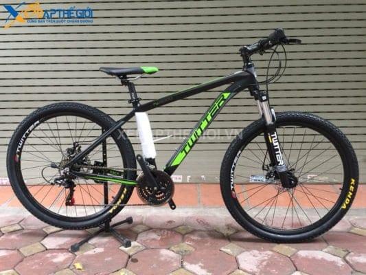 Xe đạp thể thao Twitter TW3000 2018 màu đen - xanh lá