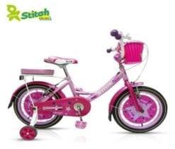 Xe đạp cho bé gái Stitch Family