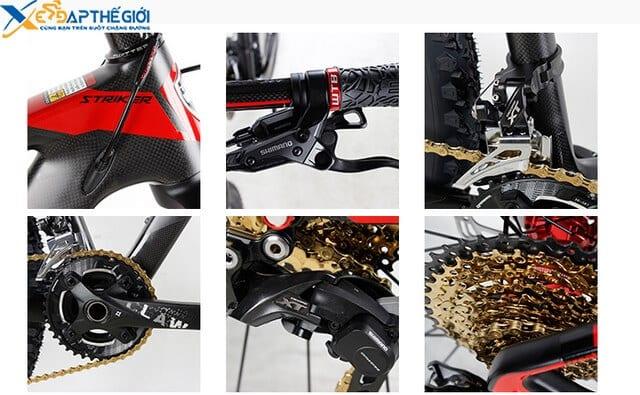 Chi tiết hệ thống chuyển động của xe đạp twitter stricker 27.5