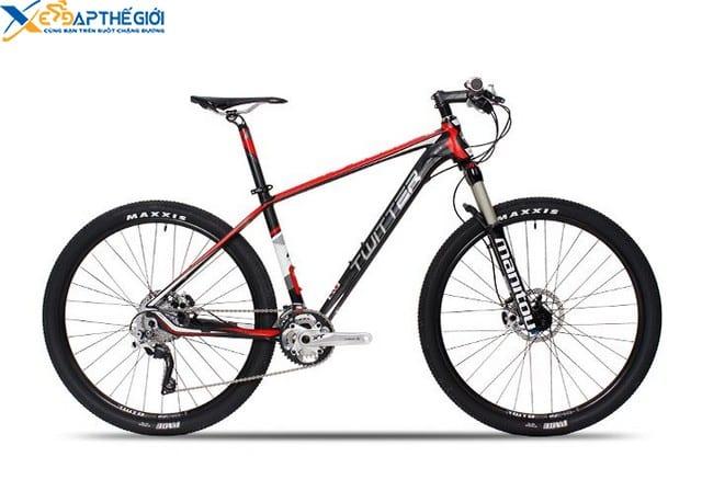 Xe đạp thể thao Twitter 8500 màu Đen - Đỏ