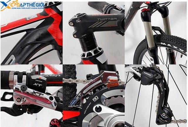 Chi tiết các bộ phận xe đạp thể thao Twitter 8500