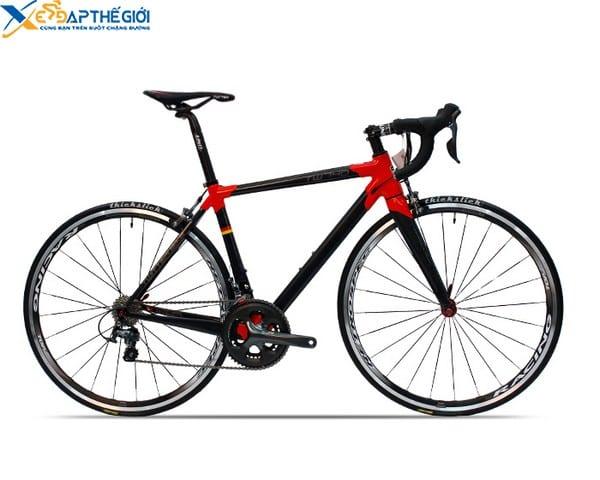 Xe đạp đua Twitter 740 màu Đen - Đỏ