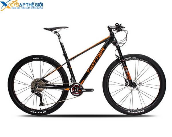Xe đạp thể thao Twitter Blackhawk màu Đen - Cam