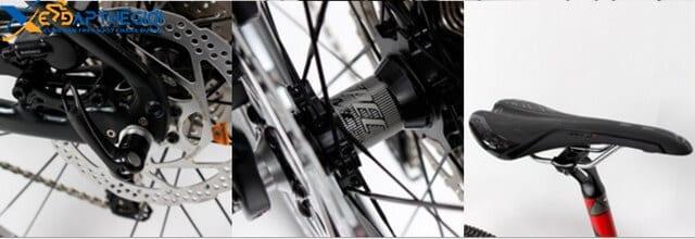 Chi tiết các bộ phận xe đạp thể thao Backhawk