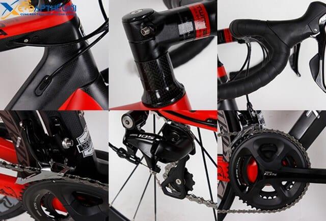 Chi tiết các bộ phận của xe đạp đua Twitter Cobra