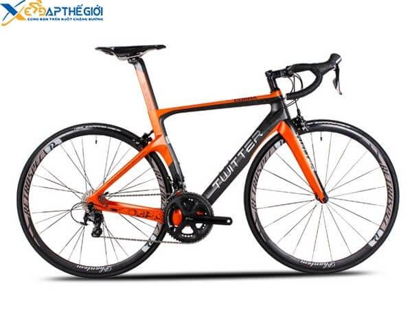 Xe đạp đua Twitter Cobra màu Đen - Cam