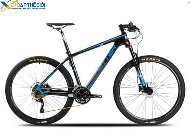 Xe đạp thể thao Twitter Roubai màu Đen - Xanh dương