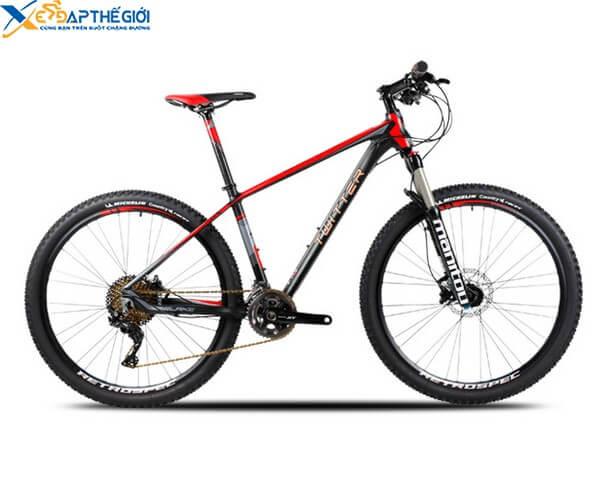 Xe đạp địa hình Twitter Blake màu Đen pha Ghi- Đỏ
