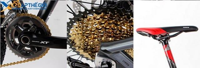 Hệ thống chuyển động của xe đạp địa hình Twitter Blake