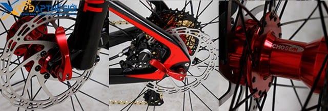 Chi tiết các bộ phận xe đạp Twitter Roubai