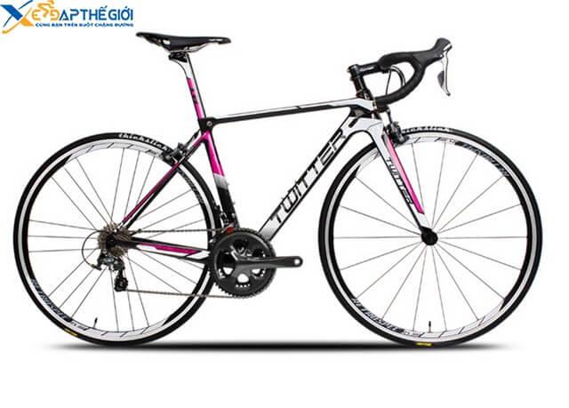 Xe đạp đua Twitter Wolverine màu Trắng pha Hồng - Đen