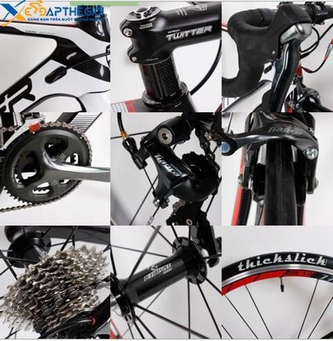 Chi tiết các bộ phận xe đạp đua Twitter Wolverine