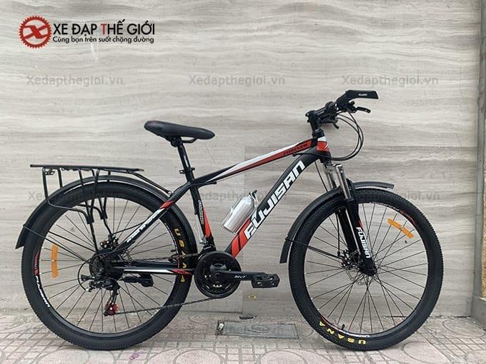 Xe đạp thể thao Fujisan phiên bản màu Đen- Đỏ