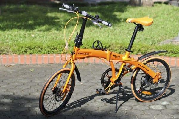 Xe đạp gấp Hachiko HA-01 Vàng Cam