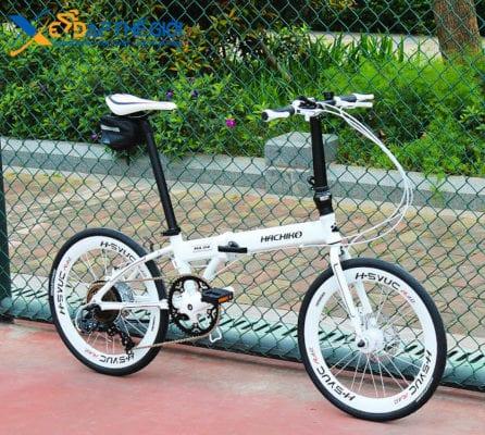 Xe đạp gấp Hachiko HA-01 phiên bản màu Trắng
