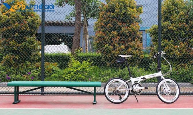 Xe đạp gấp Hachiko HA-01 phiên bản màu Trắng -Ảnh 3