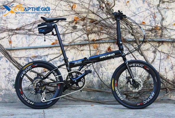 Xe đạp gấp Hachiko HA-04 phiên bản màu Đen