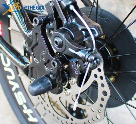 Phanh đĩa sau xe đạp gấp Hachiko HA-04