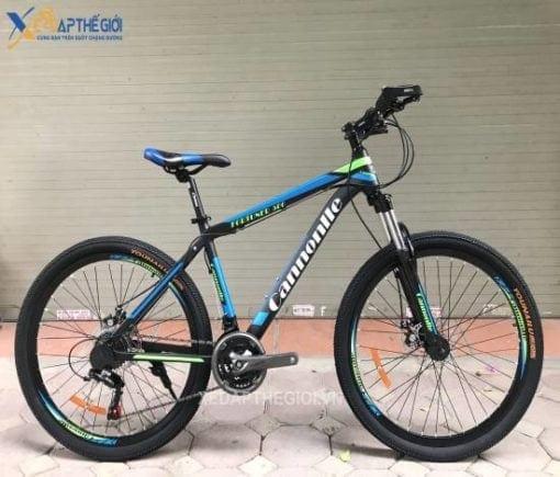 Xe đạp thể thao Cannonlle Fortuner 500 phiên bản Đen - Xanh dương