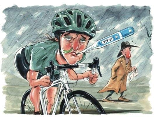 Bị cảm khiến cho việc đi xe đạp trở nên vất vả hơn