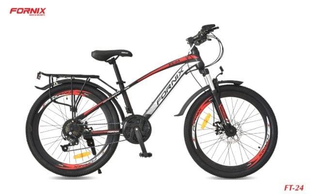 Xe đạp thể thao Fornix FT24 màu đen đỏ