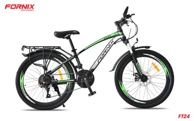 Xe đạp thể thao Fornnix FT24 phiên bản màu Đen Xanh lá