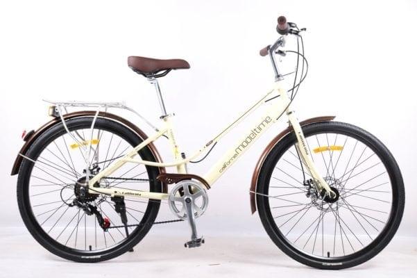 Xe đạp thể thao nữ California Modeltime phiên bản màu Trắng
