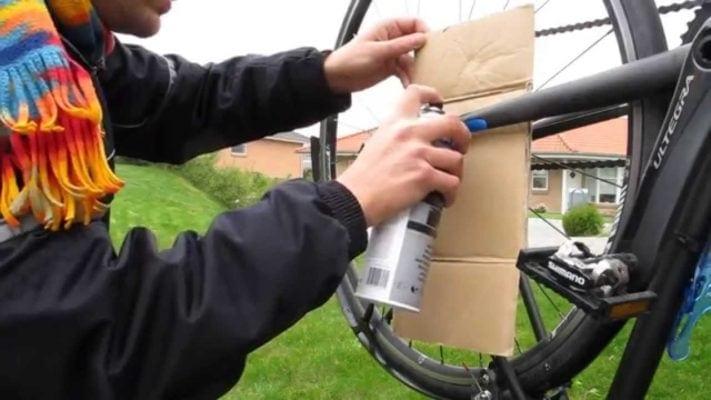 Khắc phục lỗi xước khung xe đạp