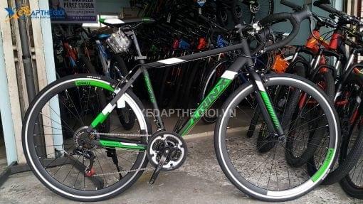 Xe đạp Trinx Tempo 1.0 2019 phiên bản màu Đen Xanh lá