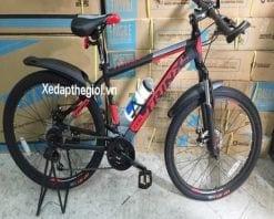Xe đạp thể thao Trinx TX16 2019 phiên bản màu Đen Đỏ Xám