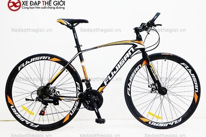 Xe đạp thể thao Fujisan phiên bản màu Đen- cam
